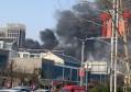 临沂沂河路附近一厂房 现场浓烟滚滚